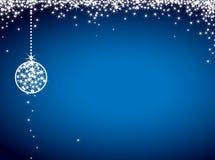 Cartão de Natal do brilho Fotografia de Stock Royalty Free