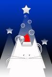 Cartão de Natal do cumprimento Fotografia de Stock Royalty Free