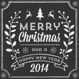 Cartão de Natal do giz Fotografia de Stock