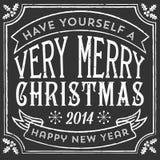Cartão de Natal do giz ilustração royalty free