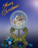 Cartão de Natal do globo da natividade Imagem de Stock