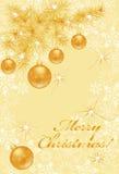 Cartão de Natal do ouro Foto de Stock