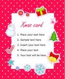 Cartão de Natal do scrapbook do vetor Imagens de Stock