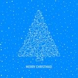 Cartão de Natal do vetor Foto de Stock