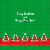 Cartão de Natal do vetor Imagem de Stock