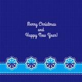 Cartão de Natal do vetor Fotografia de Stock Royalty Free