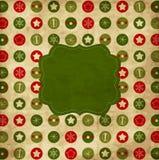 Cartão de Natal do vintage Foto de Stock