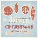 Cartão de Natal do vintage Imagem de Stock