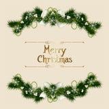 Cartão de Natal do vintage Fotografia de Stock