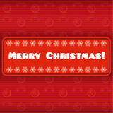 Cartão de Natal do vintage com etiqueta Fotos de Stock