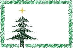 Cartão de Natal dos desenhos animados Fotografia de Stock Royalty Free