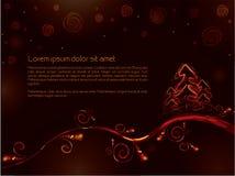 Cartão de Natal dourado Fotografia de Stock