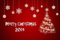 Cartão de Natal e ano novo Fotografia de Stock Royalty Free