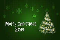 Cartão de Natal e ano novo Fotos de Stock Royalty Free