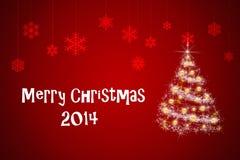 Cartão de Natal e ano novo Imagem de Stock