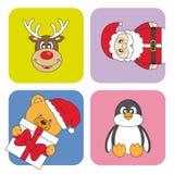 Cartão de Natal engraçado Foto de Stock Royalty Free