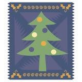 Cartão de Natal estilizado ilustração do vetor