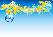 Cartão de Natal - Europa Foto de Stock Royalty Free