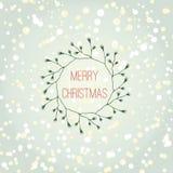 Cartão de Natal Feliz Natal Imagem de Stock
