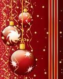 Cartão de Natal festivo Imagens de Stock Royalty Free