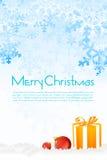 Cartão de Natal floral ilustração stock