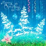 Cartão de Natal Fundo Imagens de Stock