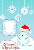 Cartão de Natal Fundo Fotos de Stock Royalty Free