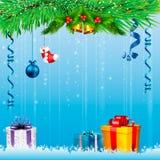 Cartão de Natal Fundo Fotografia de Stock Royalty Free