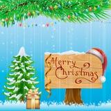 Cartão de Natal Fundo Foto de Stock