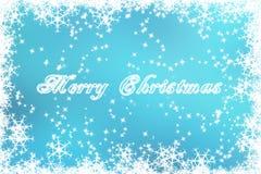 Cartão de Natal ideal congelado Imagem de Stock