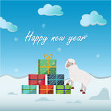 Cartão de Natal, ilustração Fotos de Stock Royalty Free