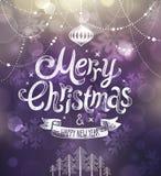 Cartão de Natal Ilustração do vetor Foto de Stock Royalty Free