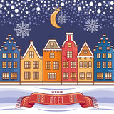 Cartão de Natal Joyeux Noel decor Imagens de Stock