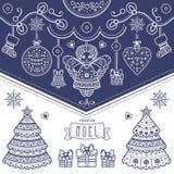 Cartão de Natal Joyeux Noel decor Imagem de Stock Royalty Free