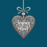 Cartão de Natal Joyeux Noel Fundo do feriado Imagem de Stock