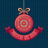 Cartão de Natal Joyeux Noel Noel feliz decor Fotos de Stock Royalty Free