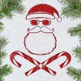 Cartão de Natal mau de Santa Fotografia de Stock Royalty Free