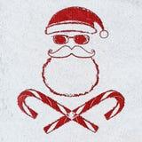 Cartão de Natal mau de Santa fotos de stock