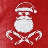 Cartão de Natal mau de Santa Imagens de Stock Royalty Free