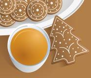 Cartão de Natal/molde Fotografia de Stock Royalty Free