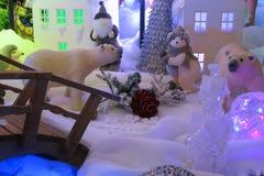 Cartão de Natal: Mundo das fadas do inverno - fotos conservadas em estoque Imagem de Stock Royalty Free