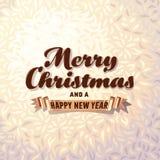 Cartão de Natal no fundo da pele Fotografia de Stock