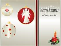 Cartão de Natal no vetor fotografia de stock