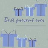 Cartão de Natal para melhor o presente Fotografia de Stock Royalty Free