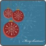 Cartão de Natal retro ilustração stock