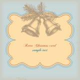 Cartão de Natal retro Fotografia de Stock Royalty Free