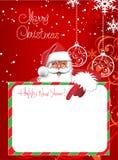 Cartão de Natal. Rotulação do Feliz Natal Fotos de Stock Royalty Free