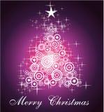 Cartão de Natal três para o fundo dos cumprimentos ilustração do vetor