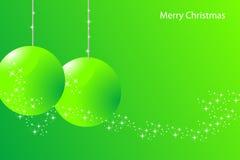 Cartão de Natal verde Fotos de Stock Royalty Free