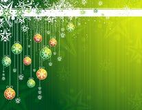 Cartão de Natal verde, vetor Fotografia de Stock Royalty Free